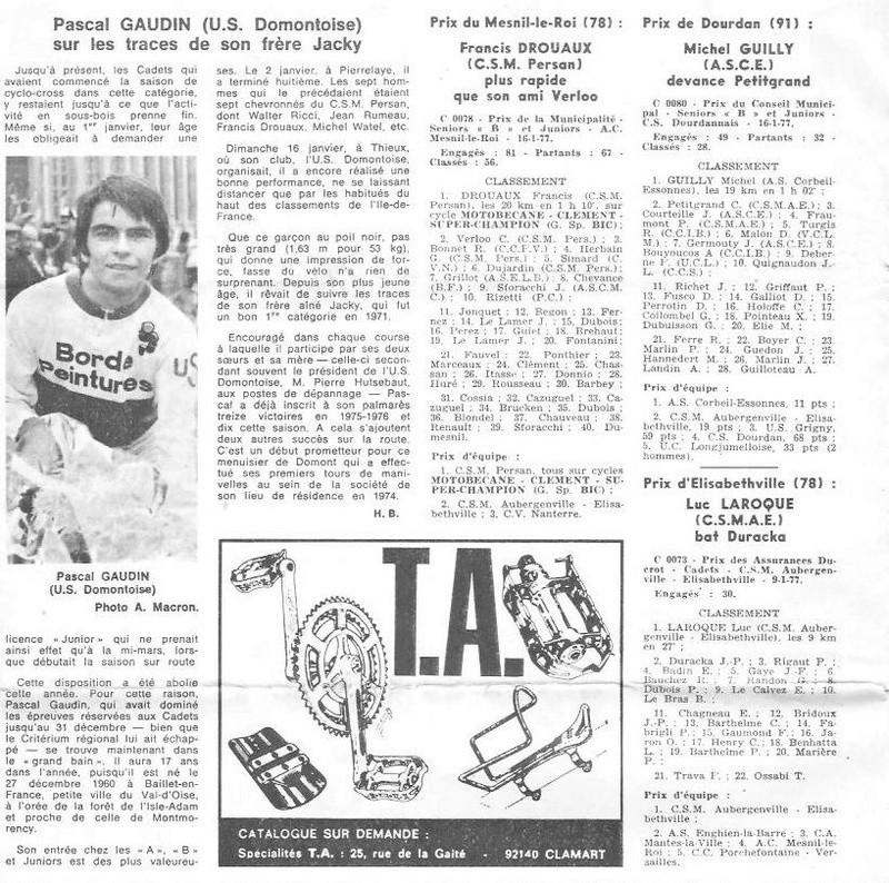 Coureurs et Clubs de juin 1974 à mars 1977 - Page 42 003150
