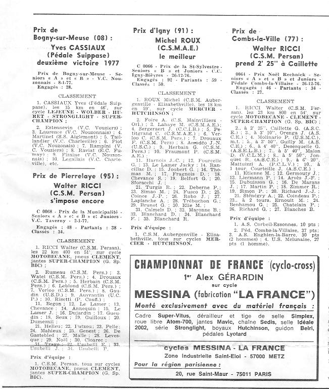 Coureurs et Clubs de juin 1974 à mars 1977 - Page 42 004148