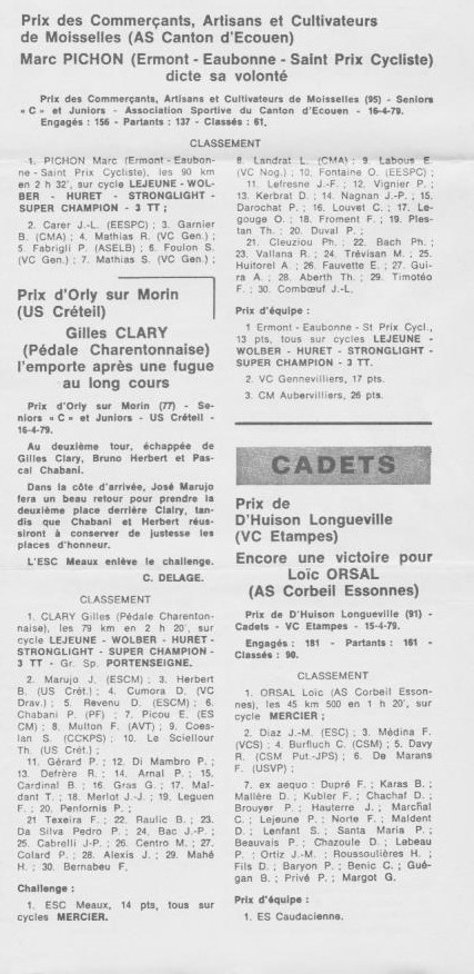 Coureurs et Clubs d'avril 1977 à mai 1979 - Page 38 005214