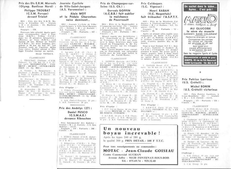 Coureurs et Clubs d'avril 1977 à mai 1979 006154