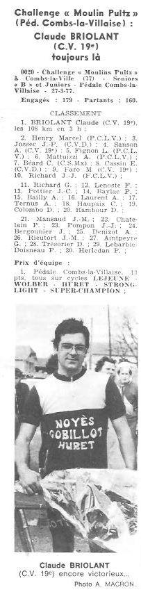 Coureurs et Clubs d'avril 1977 à mai 1979 007152