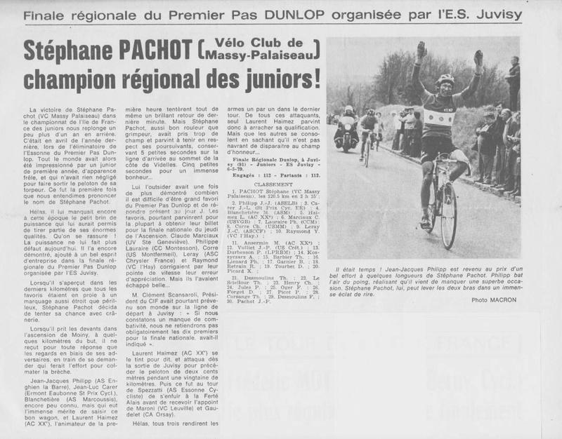 Coureurs et Clubs d'avril 1977 à mai 1979 - Page 38 007208