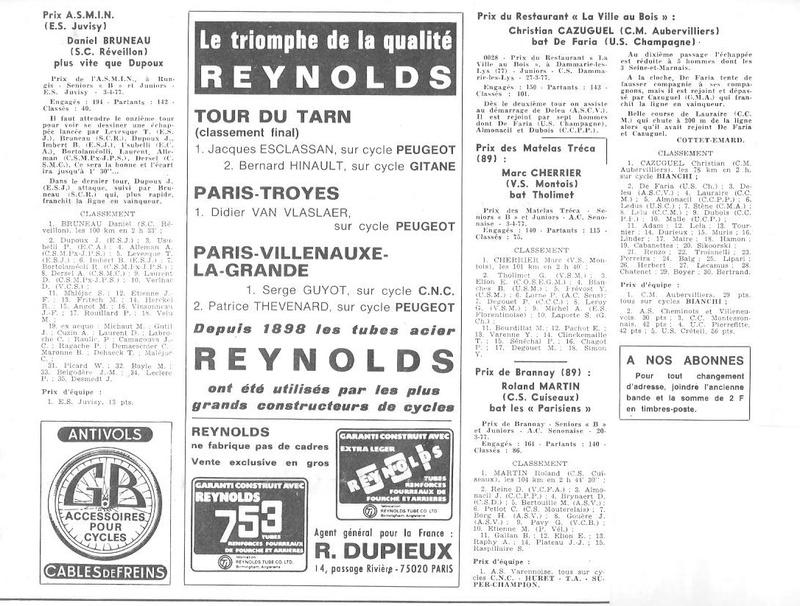 Coureurs et Clubs d'avril 1977 à mai 1979 008149