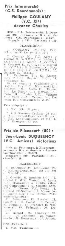 Coureurs et Clubs d'avril 1977 à mai 1979 009150