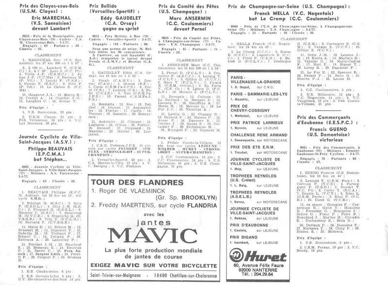Coureurs et Clubs d'avril 1977 à mai 1979 012156