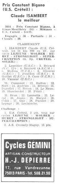 Coureurs et Clubs d'avril 1977 à mai 1979 013149