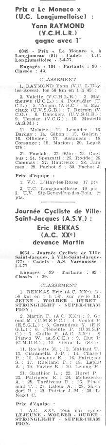 Coureurs et Clubs d'avril 1977 à mai 1979 015146