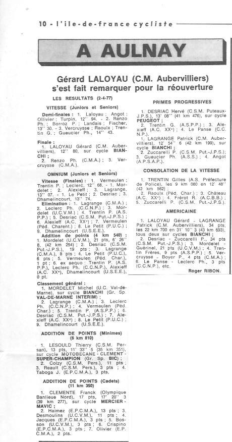 Coureurs et Clubs d'avril 1977 à mai 1979 017109