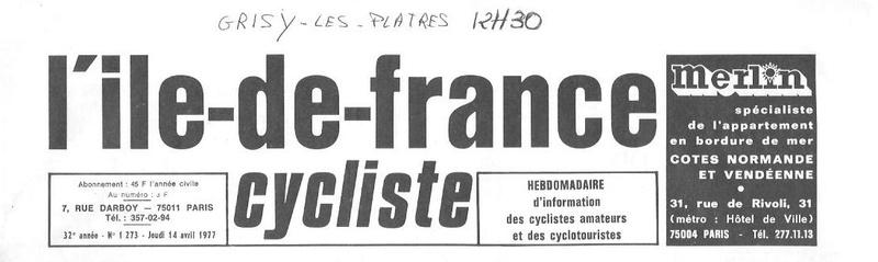 Coureurs et Clubs d'avril 1977 à mai 1979 01994