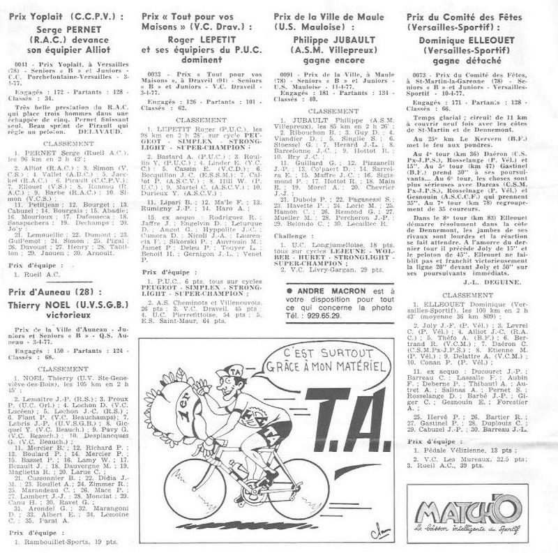 Coureurs et Clubs d'avril 1977 à mai 1979 02287