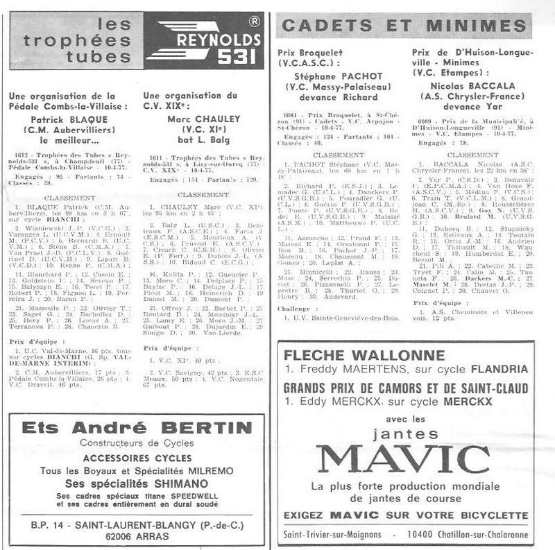 Coureurs et Clubs d'avril 1977 à mai 1979 02646