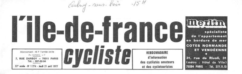 Coureurs et Clubs d'avril 1977 à mai 1979 02937