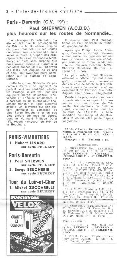 Coureurs et Clubs d'avril 1977 à mai 1979 03424