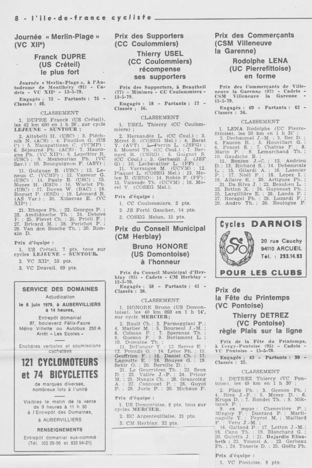 Coureurs et Clubs d'avril 1977 à mai 1979 - Page 40 1514