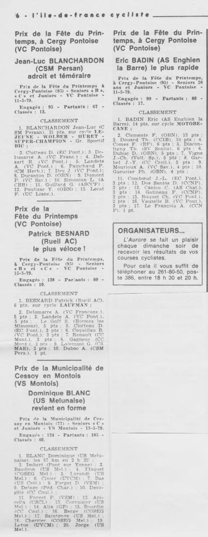 Coureurs et Clubs d'avril 1977 à mai 1979 - Page 40 911