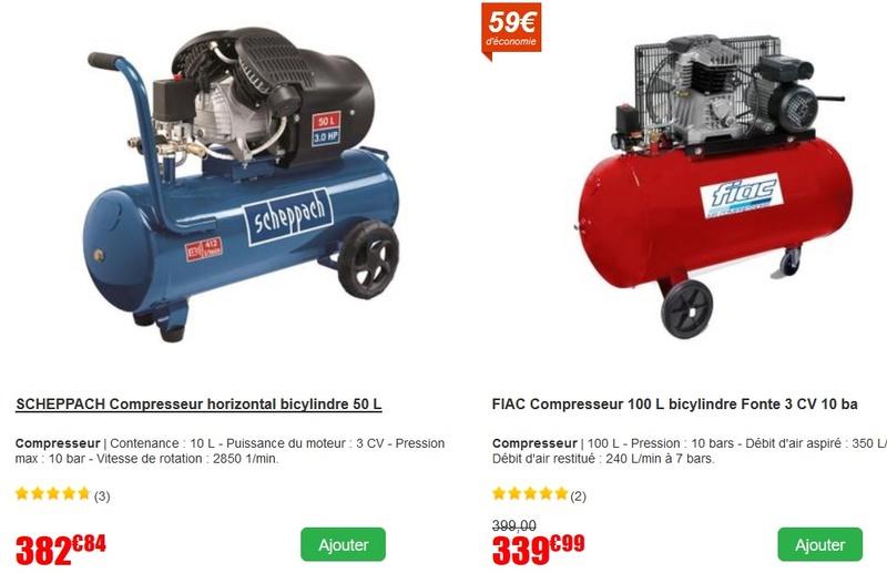 Compresseur 100 L 3cv - marque Hyundai ou Ribitech (Ribimex) - quelqu'un connait il ? Cr110