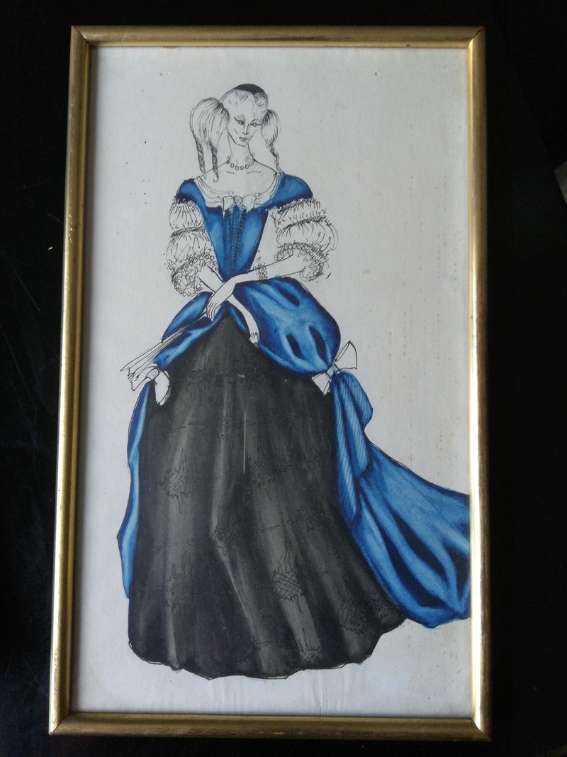 Aquarelles de costume de théâtre des années '50 15282911