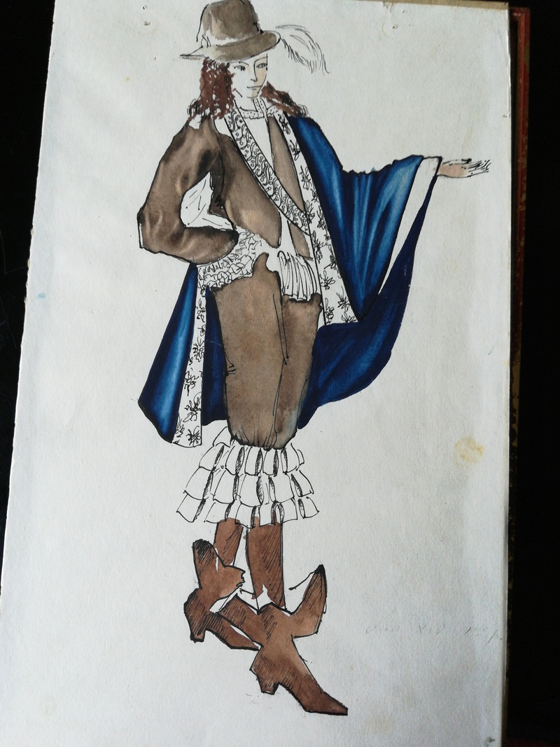Aquarelles de costume de théâtre des années '50 15282912
