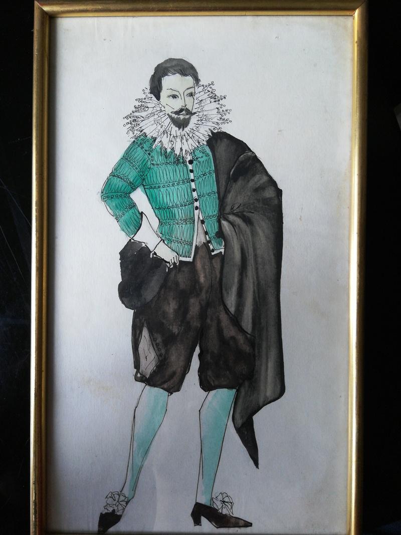 Aquarelles de costume de théâtre des années '50 15282913