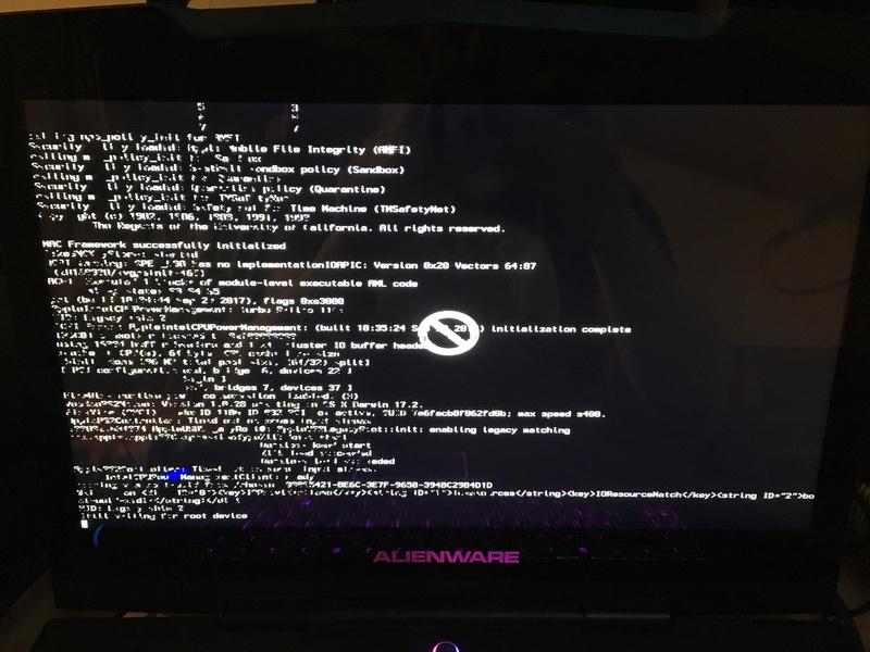 Problème d'installation Alienware m15x High sierra 43d99e10