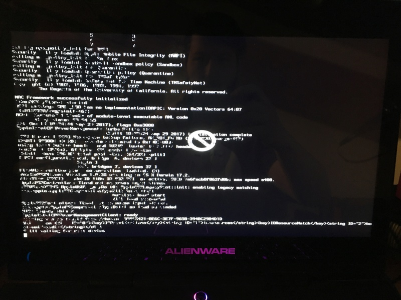 Problème d'installation Alienware m15x High sierra 53076410