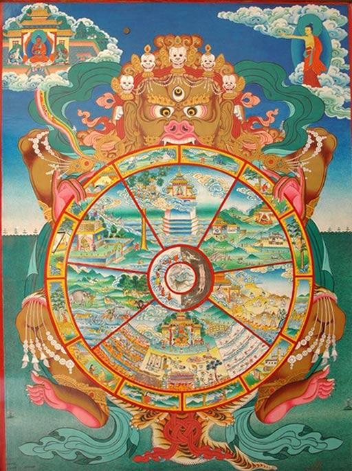 I due Buddha della Ruota del Karma: Amithaba e Gautama Samsar10