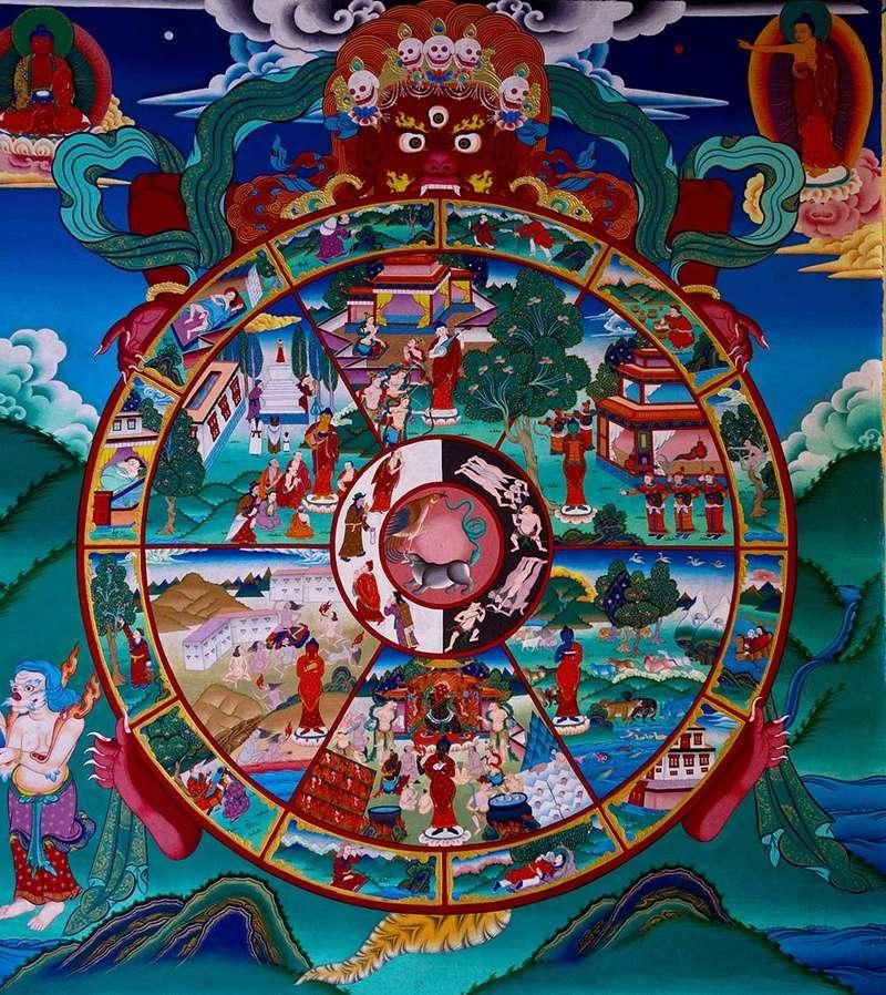 I due Buddha della Ruota del Karma: Amithaba e Gautama Sidpa-10