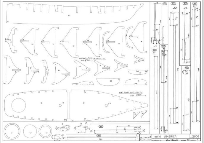 piani  https - modellistinavali forumattivo com - Piani di cantiere schooner America 1ameri10