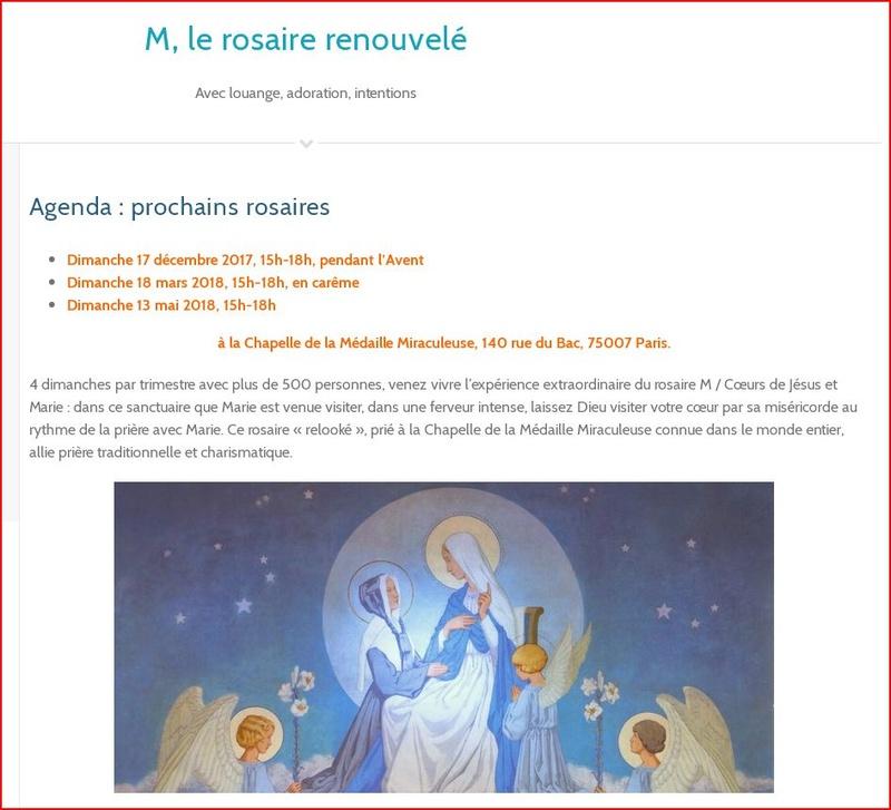 L'ALLIANCE MARIALE  à La rue du Bac  et à Notre Dame des Victoires.  Mydail10