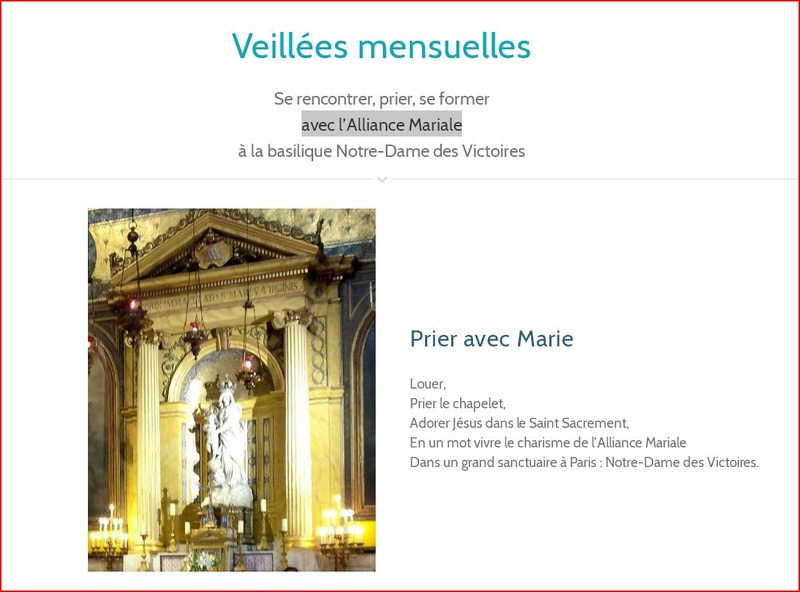 L'ALLIANCE MARIALE  à La rue du Bac  et à Notre Dame des Victoires.  Notred10