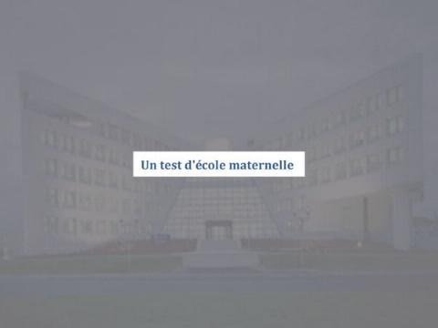 Test d´école maternelle  0139