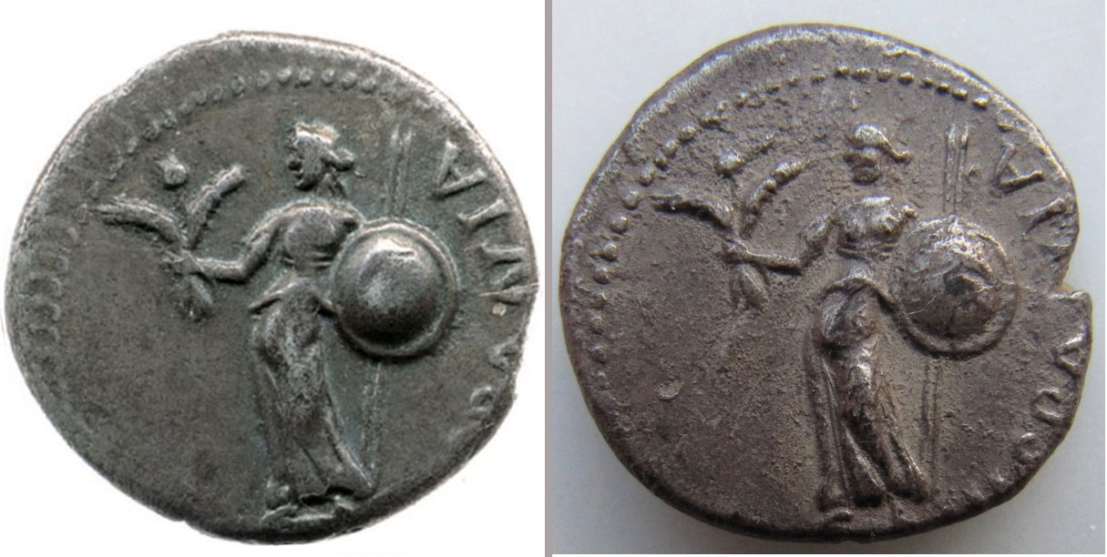 Denier de Galba frappé en Hispania - en apparence inédit.  Compar10