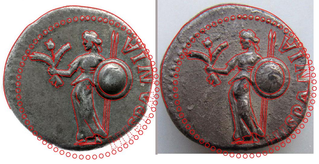 Denier de Galba frappé en Hispania - en apparence inédit.  Compar12