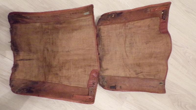 Guêtres en toile et cuir 101_1823