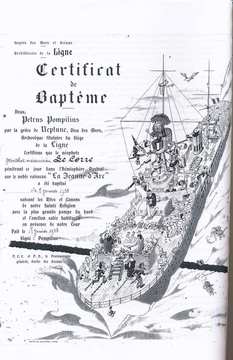 [ Les traditions dans la Marine ] Les diplômes de la Ligne - Page 4 1938_p10