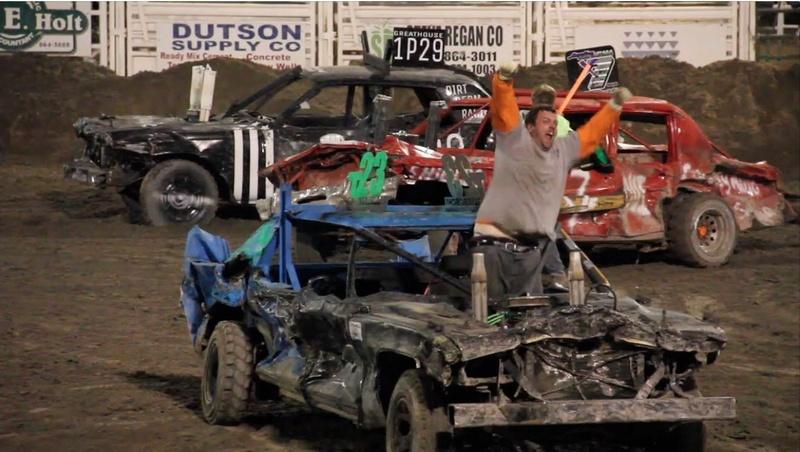 Tether car demolition derby  Demo10