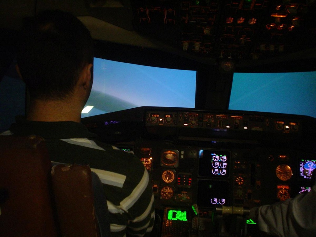 Mi primera experiencia en simulador de vuelo real....(737NG) Foto_113