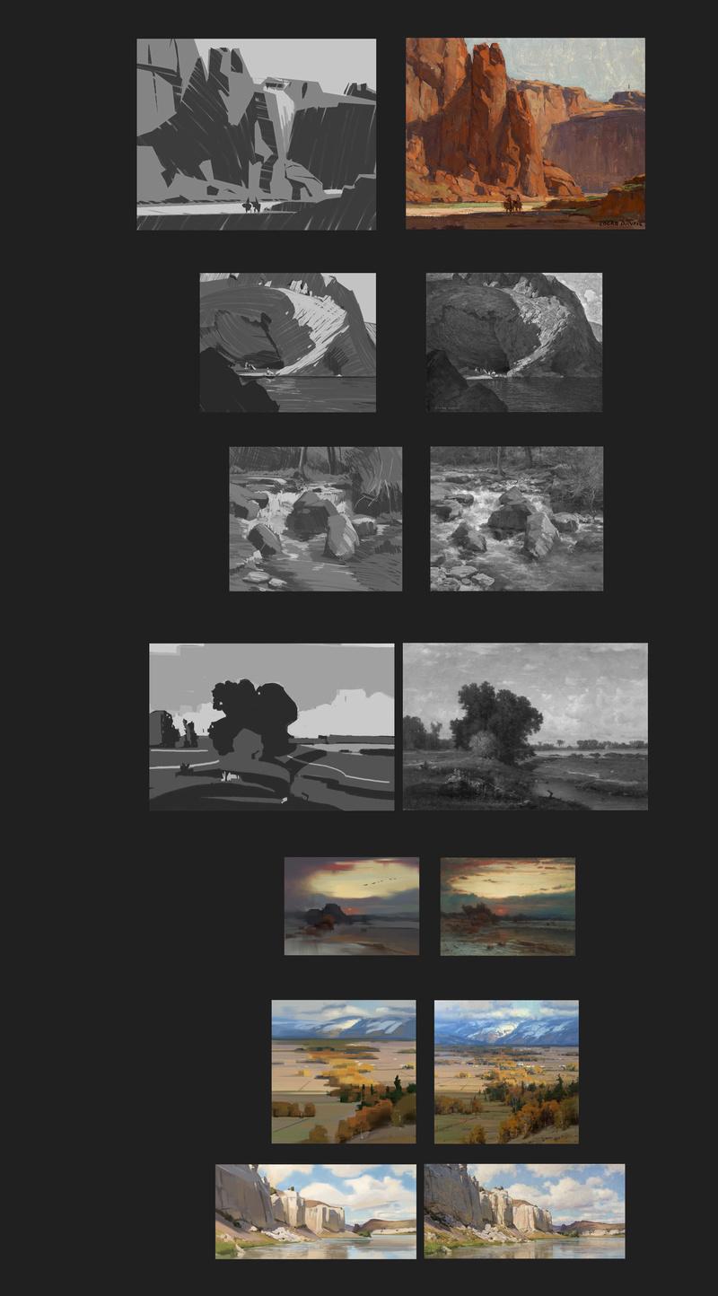 Les gribouilles d'Atna: objectif landscape et persos - Page 40 Etudes16