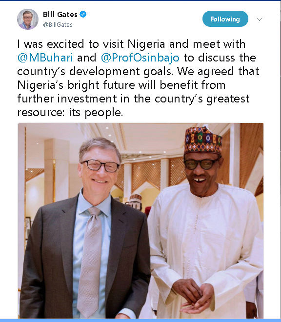 Bill Gate Shares About His Visit To Nigeria On Twitter. See What He Has To Say (PHOTOS) 115