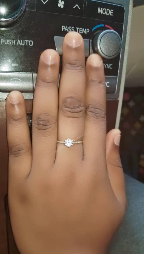 Man Engages Girlfriend With N2 Million Cheque & Diamond Ring (Photos) 69316010