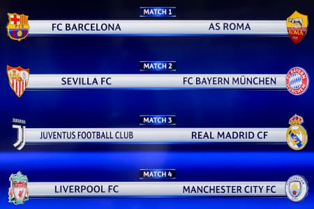 UEFA Champions League Quarter Final Draw On 16th March 2018  Downlo11