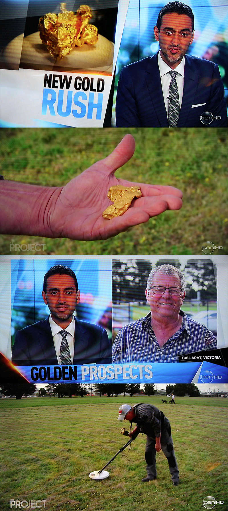 7:30pm TONIGHT on The Project television show - Gold Prospecting. Screen12