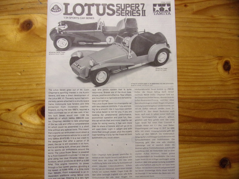 LOTUS SUPER 7 Series II [TAMIYA - 1/24éme] 104_0249