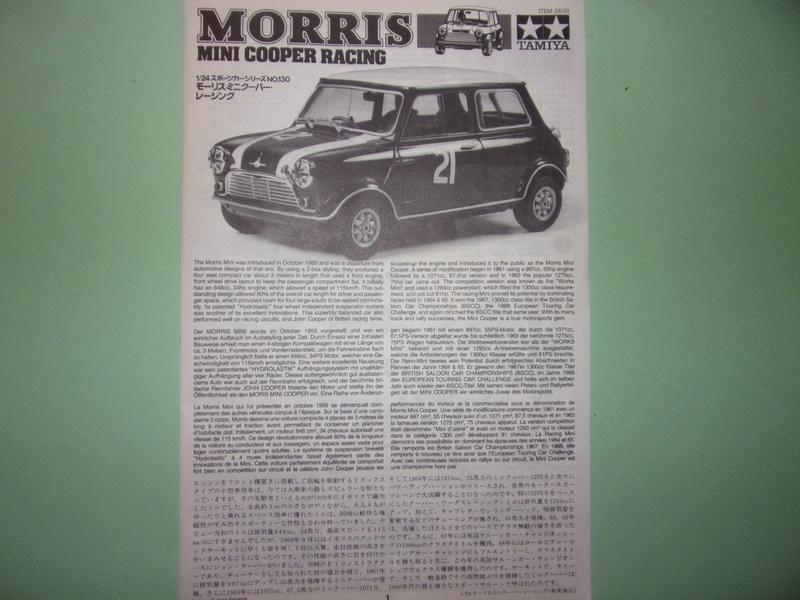 MORRIS MINI COOPER RACING -  TAMIYA -1/24éme 104_2541