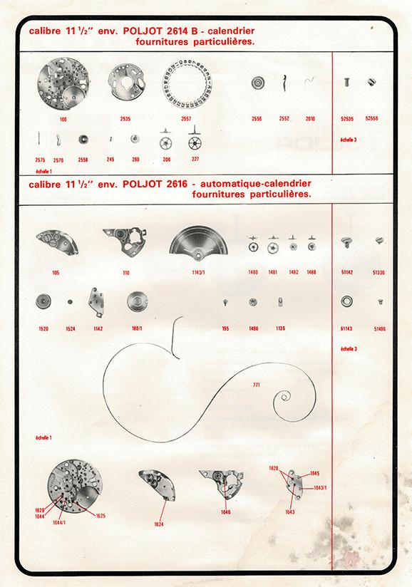 Fiches techniques de mécanismes soviétiques Poljot12