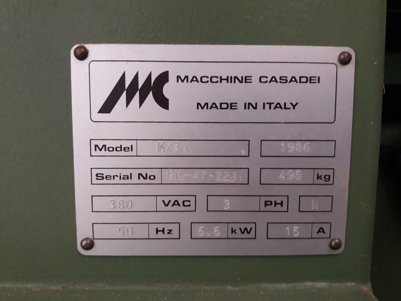 Courroie pour un combiné Casadei M31 20170611