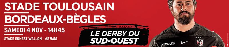 Top14 - 9ème journée : Toulouse - UBB 1410