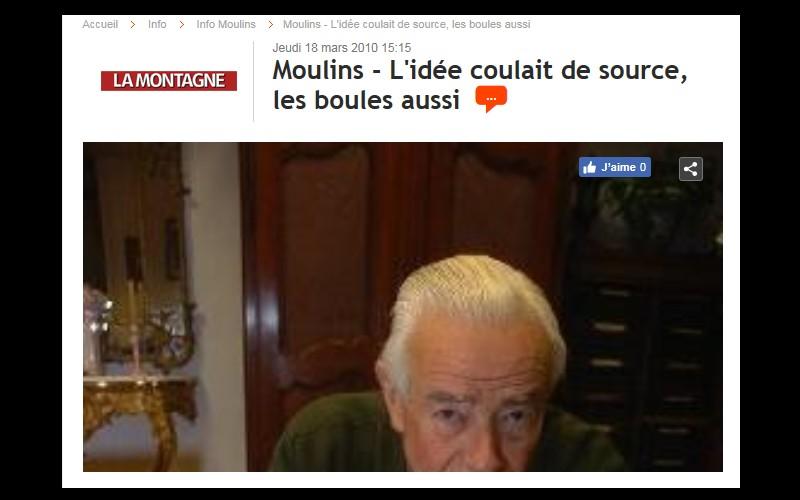 Boules de Moulins et son contenu !!! - Lettres - 11223
