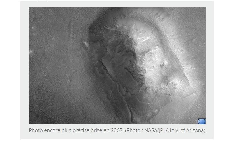 D'où viennent ces visages sur la planète Mars ? 191