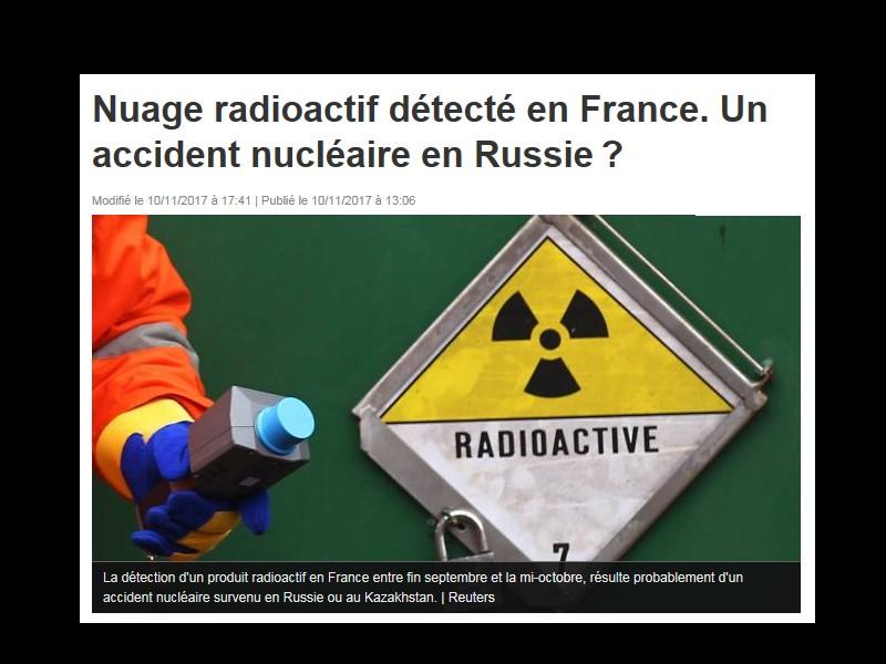 Nuage radioactif détecté en France. Un accident nucléaire en Russie? 210